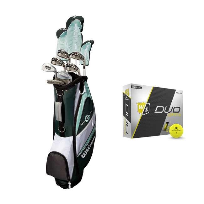 WGGC4380L + WGWP40150 Wilson Profile XLS Women's Left Hand Graphite Golf Club Set & Balls