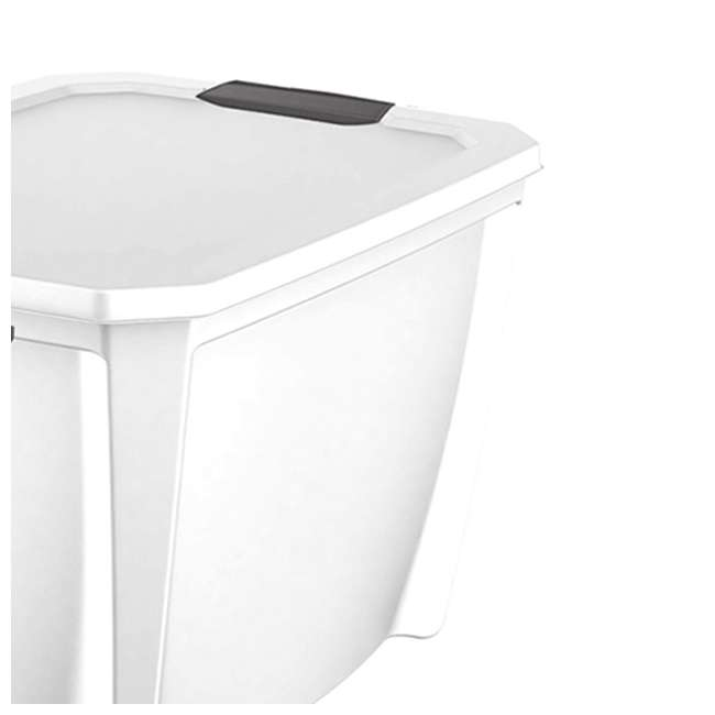 7 x T20GLWT Life Story White Latching Storage Tote, 20 Gallons (12 Pack) 2