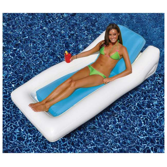 15090B Swimline Inflatable SunSoft Hybrid Lounge Ride-On Swimming Pool Float 2