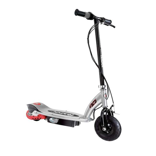 13125E-BK Razor E125 Motorized 24-Volt Rechargeable Electric Scooter, Black