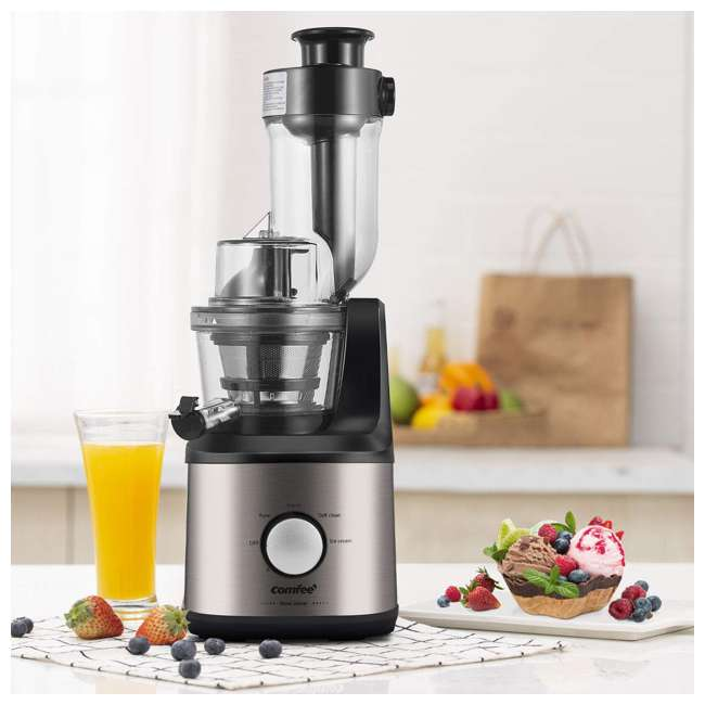 MJ-JS2007AW2 Comfee BPA Free Multi Function Stainless Steel Slow Juicer with Ice Cream Maker 2