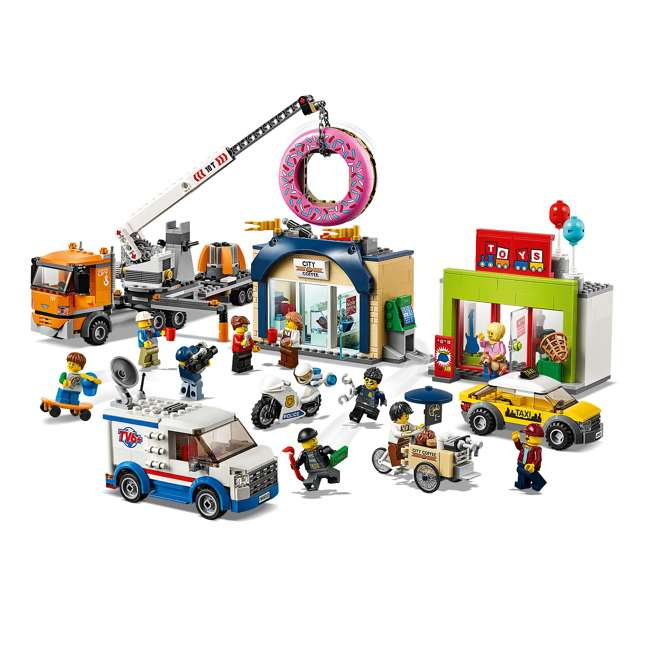 6251763 LEGO City 60233 Donut Shop Opening Town Playset Toy 790 Piece Block Building Set 1