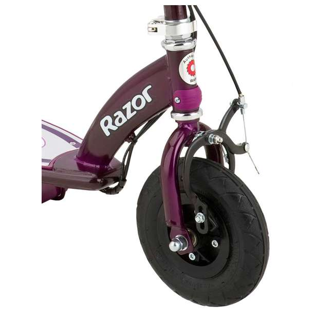 13111250 + 97778 Razor E100 Electric Motor Powered Girls Scooter (Purple) & Youth Sport Helmet 3