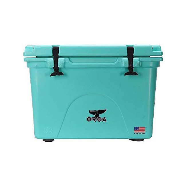 ORCSF058 Orca ORCSF058 58 Quart 72 Can Roto Molded Insulated Ice Cooler, Seafoam Blue
