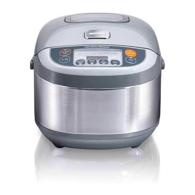 37570 Hamilton Beach 3.5 Quart Advanced Multi Function Rice Cooker, Stainless Steel 1