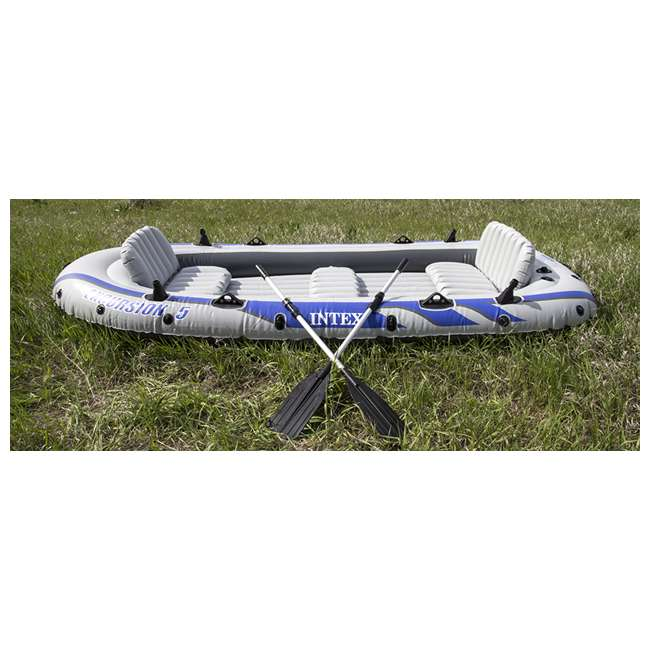 68325EP INTEX Excursion 5 Inflatable Rafting/Fishing Dinghy Boat Set (Used) (2 Pack) 1