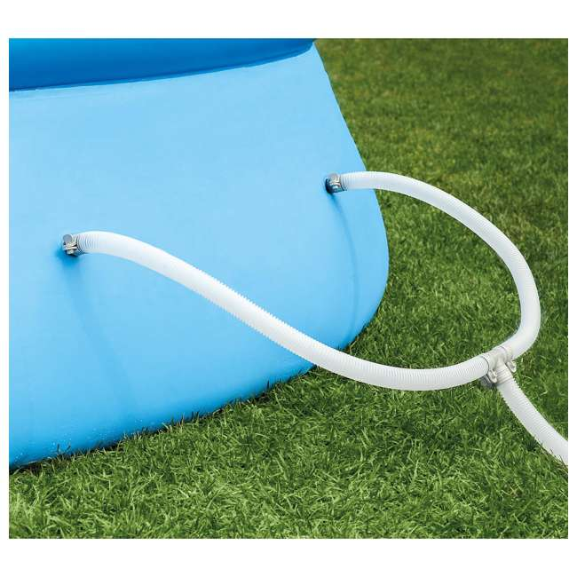 26175EH + QLC-42003 Intex 18 x 4 Foot Inflatable Easy Set Pool w/ Ladder, Pump, & Cleaning Kit 8