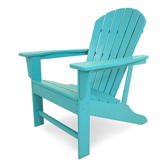 ADIRONDACKB Leisure Classics UV Protected Indoor Outdoor Patio Chair, Turquoise (2 Pack) 1
