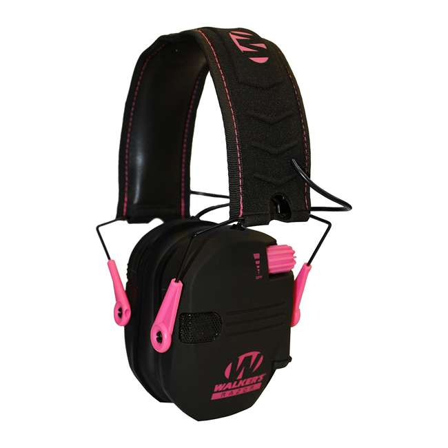 GWP-RSEM-PNK Walker's Razor Series Slim Shooter Folding Earmuffs, Pink