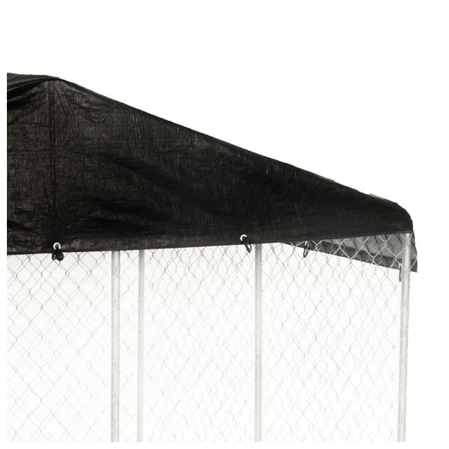 CL-61528EZ + CL-00303 Lucky Dog 10 x 10' Outdoor Dog Kennel & Waterproof Roof Cover 9