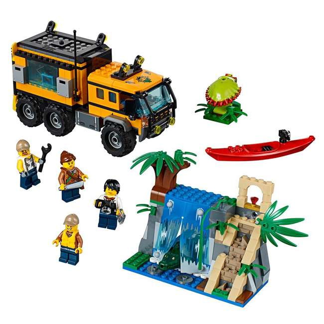 LEGO City Jungle Mobile Lab Truck Building Set