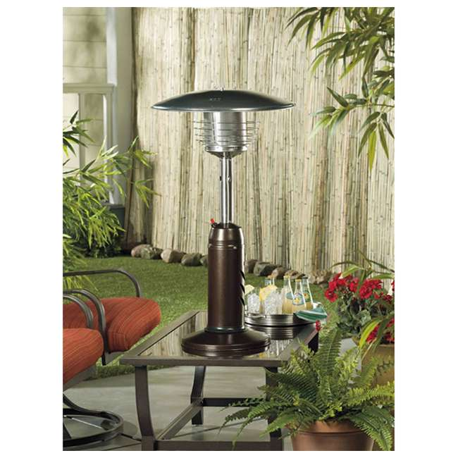 HLDS032-CG AZ Patio Heaters Outdoor Tabletop Patio Heater, Hammered Bronze