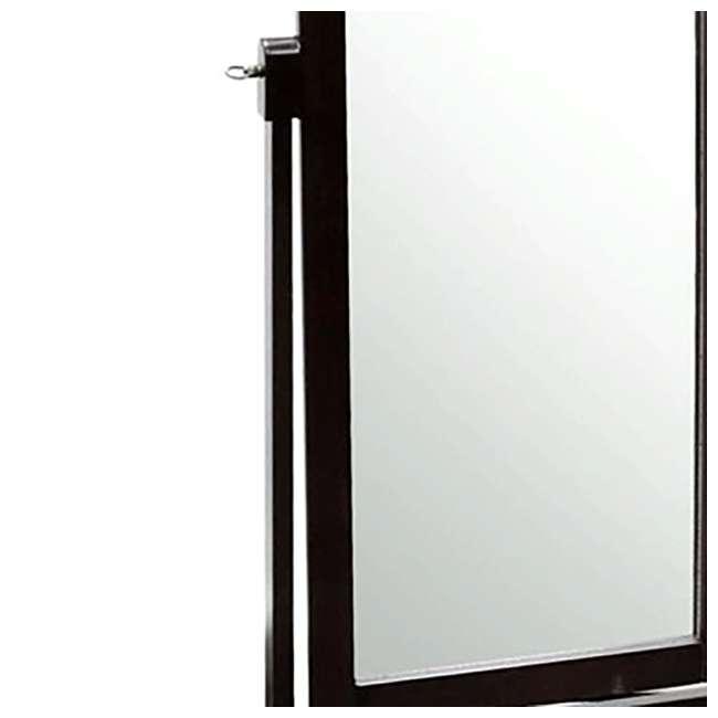 SC-MI12156 Abode 84 Full Length Wood Cheval Dressing Mirror, Mahogany 1