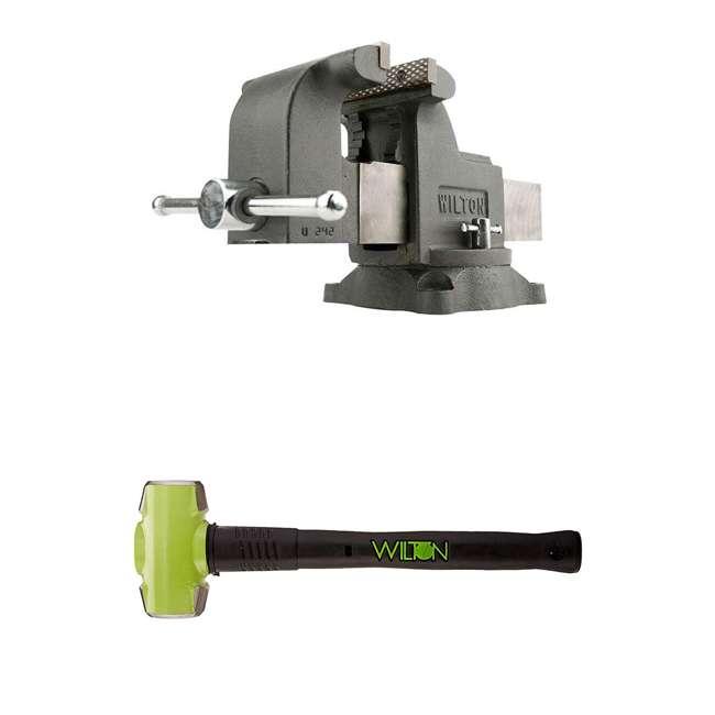 JPW-63304 + WIL-20616 Wilton WS8 8 Inch Steel Vise w/ 6 Pound Sledge Hammer