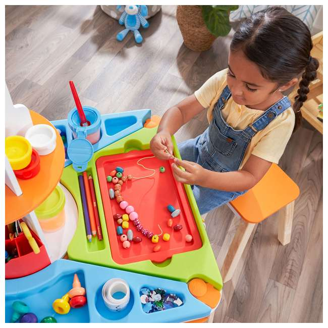 10091 Kidcraft 10091 Ultimate Creation Station Kids Activity Art Table with Two Stools 8