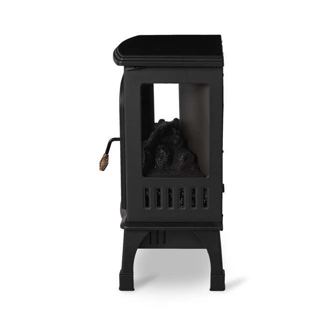 LIM-19-100005 Limina Indoor Electric 1500W Stove Fireplace Infrared Quartz Space Heater, Black 3