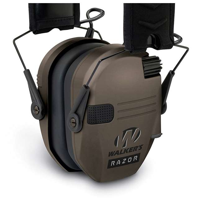 GWP-RSEM-FDE Walker's Razor Series Slim Shooter Folding Earmuffs, Dark Earth 4