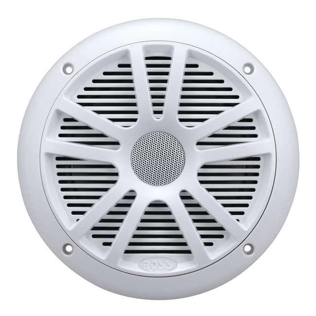 MR6W Boss Audio MR6W 6.5-Inch 180W Dual Cone Marine Speakers - White (Pair) 1