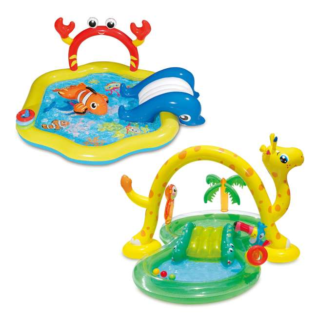 KA0047000167 + KA0040000167 Summer Waves Jungle Animal and Under the Sea Kiddie Pools