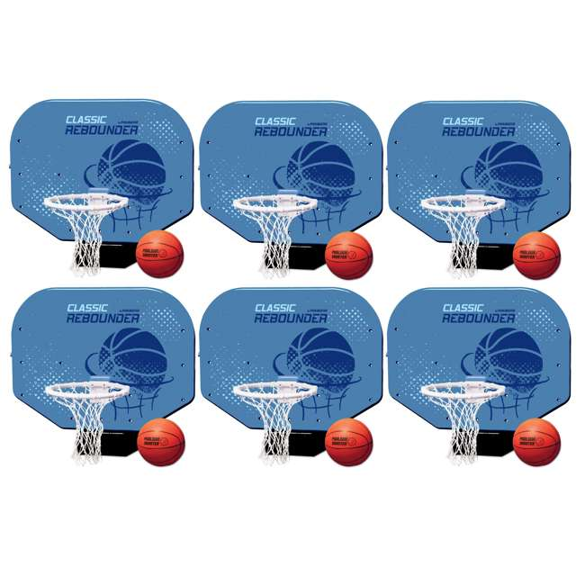 6 x 72781 Poolmaster Classic Pro Rebounder Poolside Basketball Game (6 Pack)