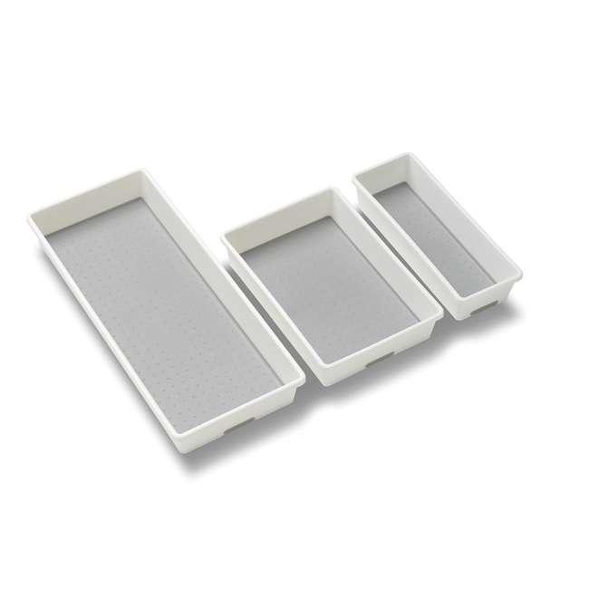 29003 MadeSmart Home Drawer Organizer 3 Tray Pack, White (2 Pack) 1