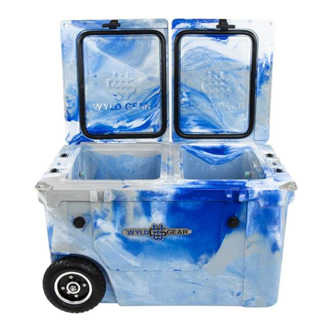 HC50-17M WYLD HC50-17M 50 Qt. Dual Compartment Insulated Cooler w/ Wheels, Marine Blue 5