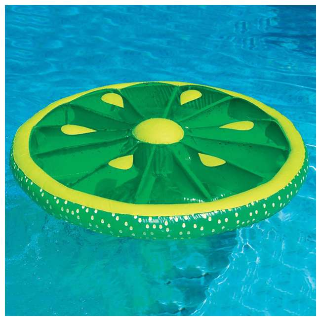 6 x 9054G-U-A Swimline 60-Inch Inflatable Swimming Pool Lime Slice Float (Open Box) (6 Pack) 1