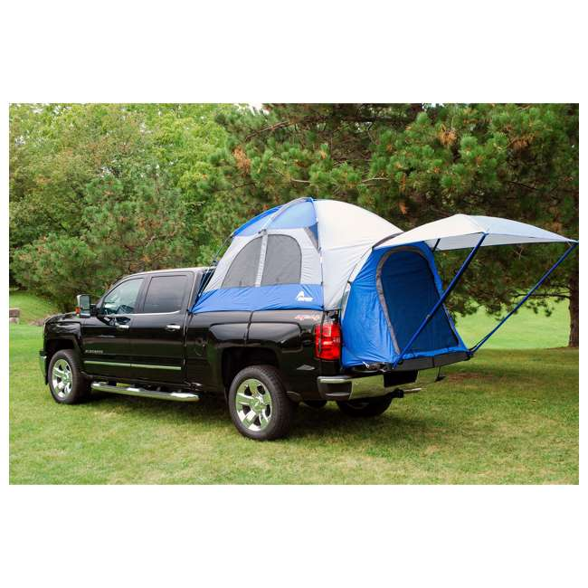 57011-U-B Napier Sportz 8.2 Ft. Easy Setup Full Size Long Truck Bed Tent, Blue/Gray (Used) 9