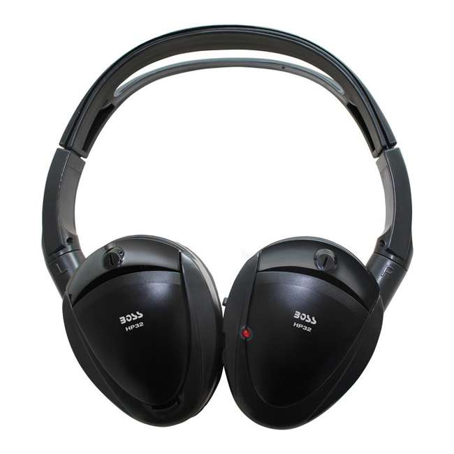 4 x HP32 Boss HP32 Black Dual Channel Infrared Foldable Wireless Headphones (4 Pack) 1