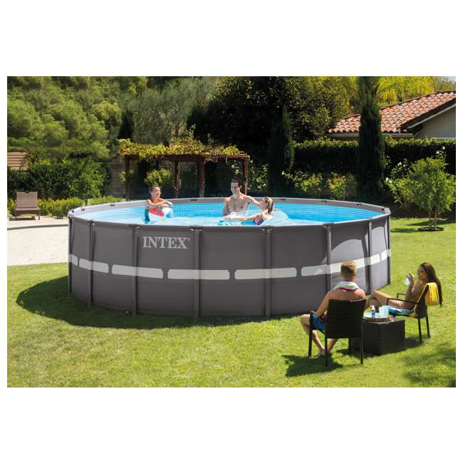Intex 18 39 x 52 ultra frame swimming pool set w sand pump saltwater combo 28335eh for Intex swimming pools clearance