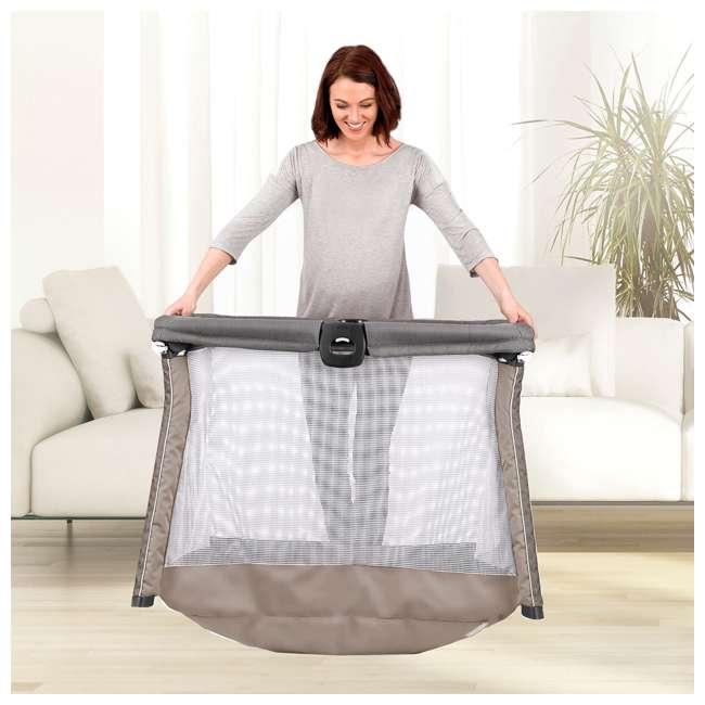 CHI-0607967521 Chicco FastAsleep Go Full Sized Lightweight Travel Infant Playard, Graphite Gray 3
