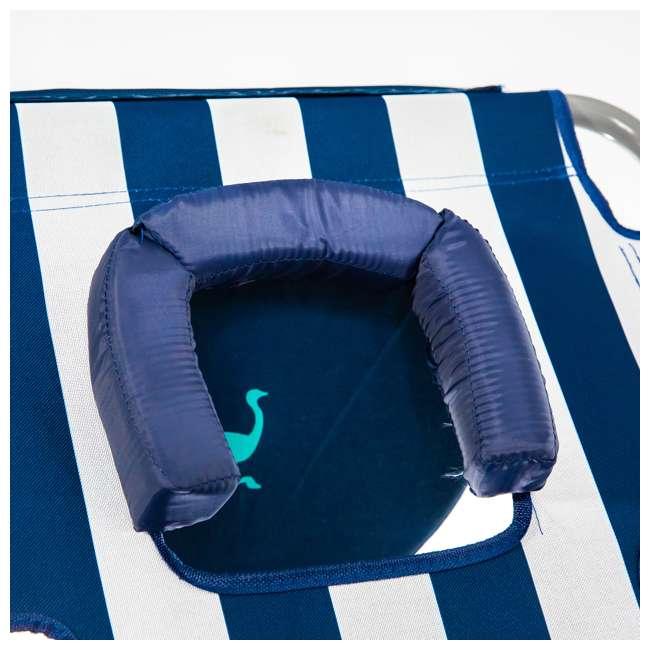 CHS-1002S Ostrich Chaise Lounge Folding Portable Sunbathing Beach Chair (2 Pack) 5