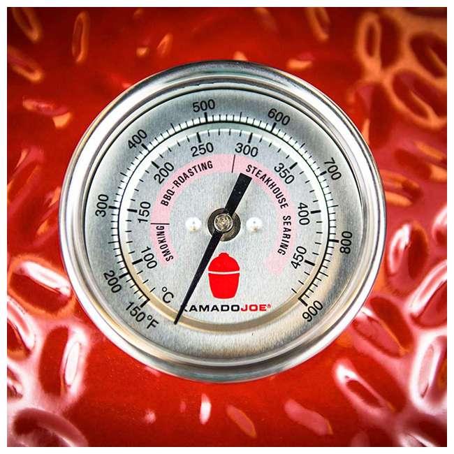 """KJ23RHCI-A Kamado Joe KJ23RHCI Joe Classic III 18"""" Portable BBQ Ceramic Charcoal Grill, Red 5"""