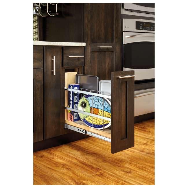 447-BCSC-5C Rev-A-Shelf 447-BCSC-5C 5 Inch Kitchen Pull Out Tray Divider Cabinet Organizer 2