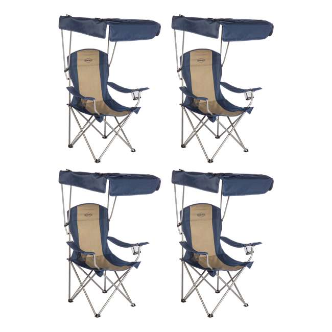 Kamp Rite Camping Sun Shade Canopy Folding Lawn Chair 4 Pack X Cc463