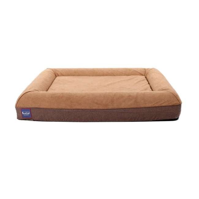 M1222 Laifug Large Waterproof Memory Foam Dog Bed Mattress, Chocolate