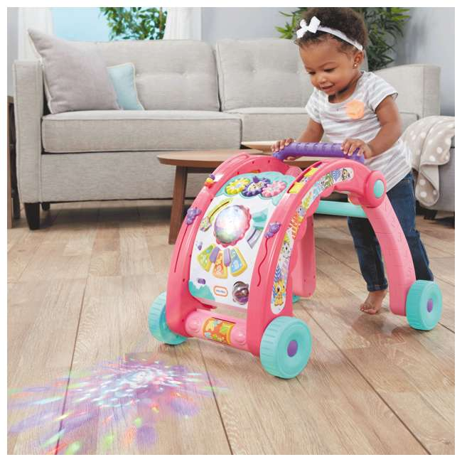 643095-U-A Little Tikes Light 'n Go 3-in-1 Baby Activity Table & Walker Toy, Pink(Open Box) 4