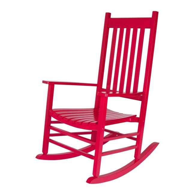 SHN-4332CP Shine Company Vermont Hardwood Outdoor Porch Patio Rocker Chair, Chili Pepper