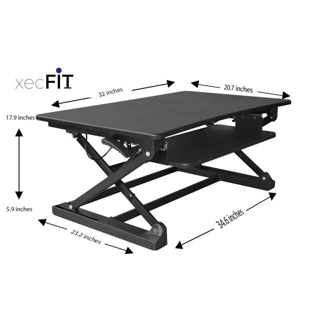 Portable Garages That Stand Up To Winter : Xec fit adjustable height convertible sit to stand up desk