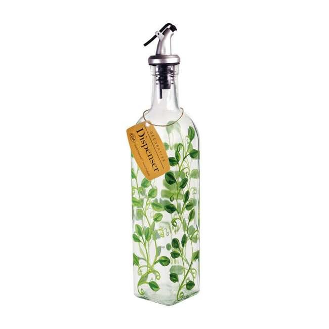 GH-39570 Grant Howard 39570 Hand Painted Vines Glass Oil & Vinegar Cruet Bottle, 16 Ounce