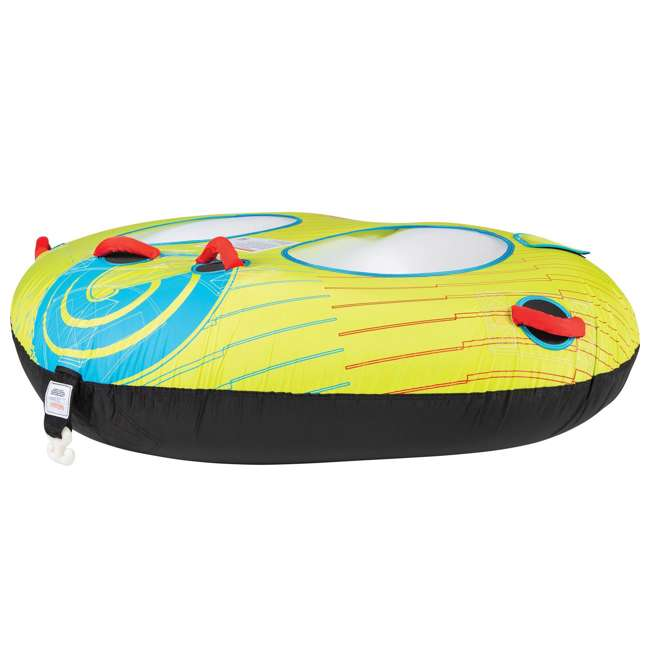 67201004-CON CWB Classic Wing 2 Durable Inflatable Towable 2 Rider Donut Water Tube, Yellow 1