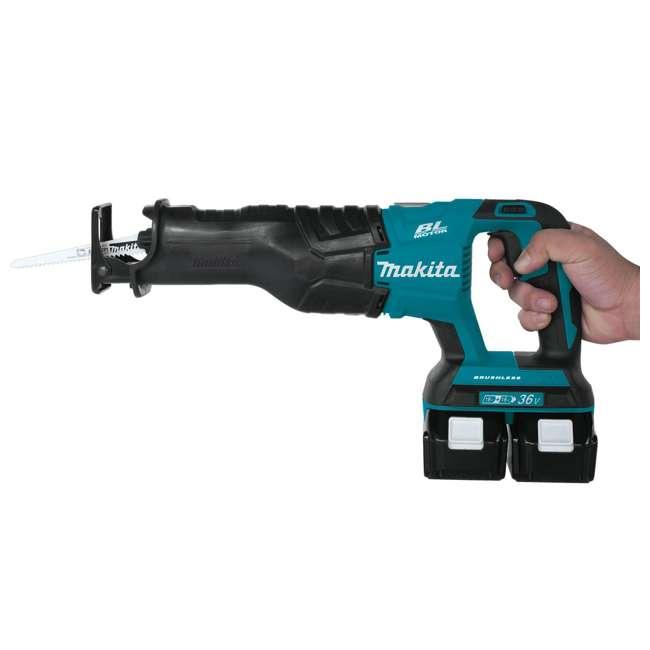 XRJ06PT-OB Makita 18V X2 LXT 5 Ah Li-Ion Brushless Cordless Recipro Saw Kit (Open Box) 3
