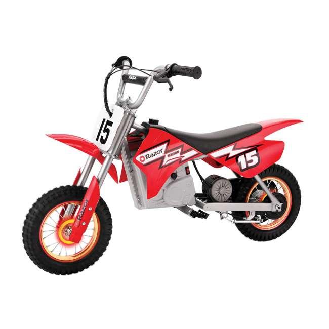 15128060 Razor MX400 Dirt Rocket 24V Toy Motocross Motorcycle Dirt Bike, Red (2 Pack) 1