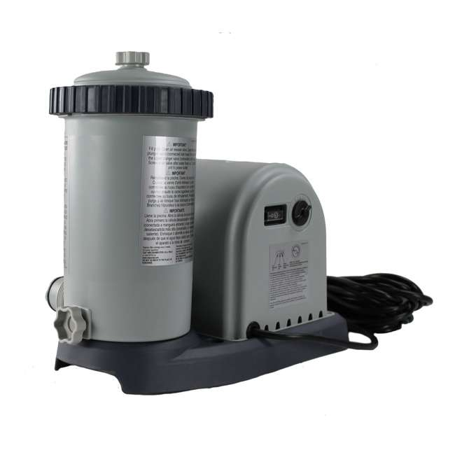 635T Intex 1500 Gph Krystal Clear Cartridge Filter Pump 110-120V w/ GFCI (Pump Only) 1