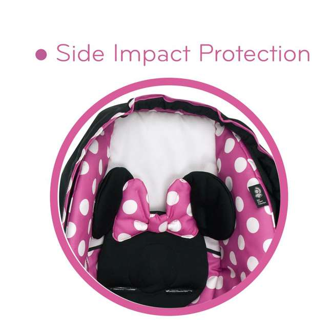 IC233BZE Disney IC233BZE Light and Comfy 22 Luxe Minnie Mouse Infant Seat, Pink 5