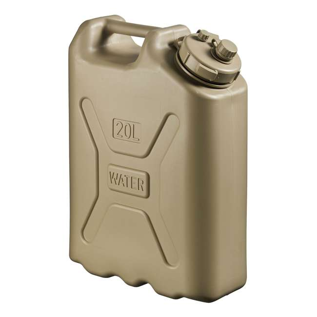 5935-SCEPTER-U-A Scepter BPA 5 Gallon 20 Liter Portable Water Storage Container, Sand (Open Box)