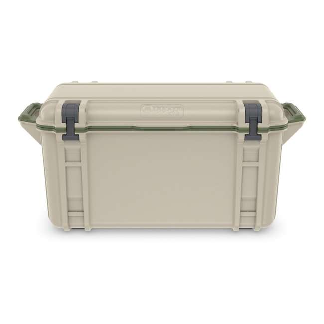 77-54869 OtterBox Venture Heavy Duty Outdoor Camping Fishing Cooler 65-Quarts, Tan/Green 3