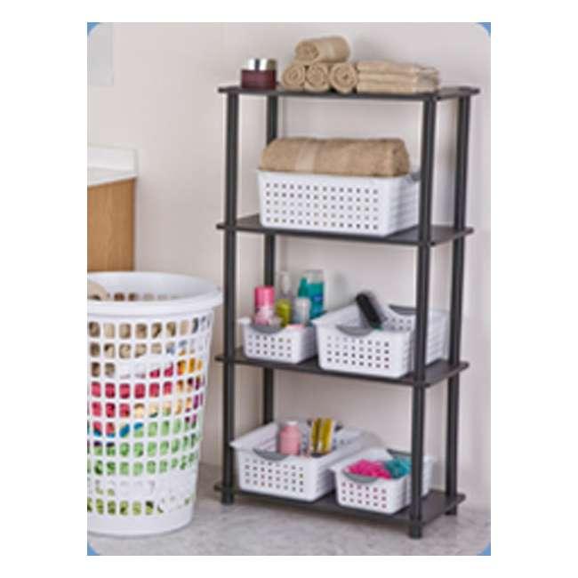 72 x 16228012-U-A New Sterilite 16228012 Small Ultra Plastic Storage Bin Organizer Basket -White (72 Pack) 4