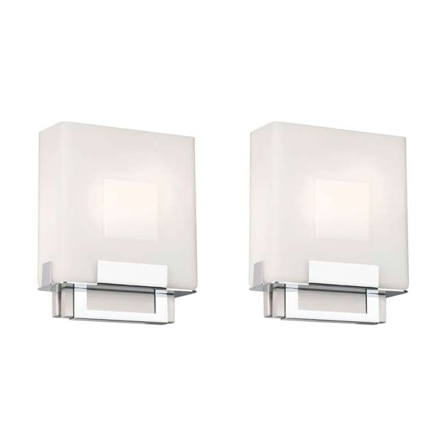 PLC-F544336E1 Phillips Forecast Square Bathroom Light, Satin Nickel (2 Pack)