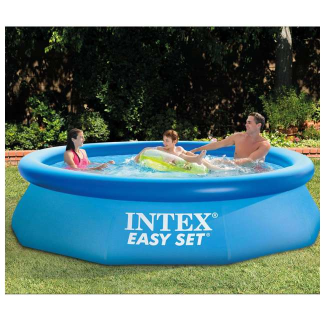 4 x 28120EH Intex Easy Set 10ft x 30ft x 30in Above Ground Inflatable Round Swimming Pool (4 Pack) 3